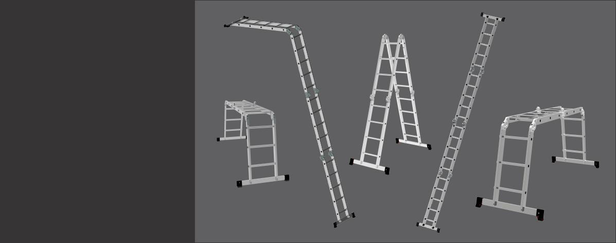 Escalera Articulada Aluminio